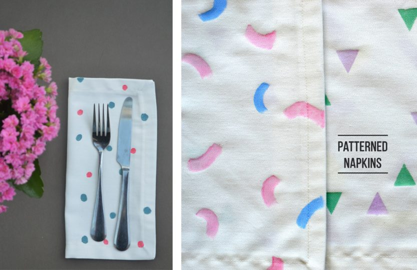 patterned napkins