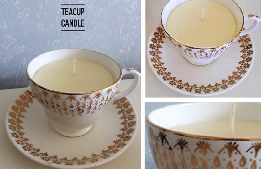 Make your own teacup candle