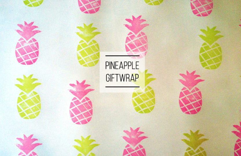 Create your own pineapple giftwrap