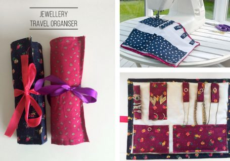 DIY travel jewellery organiser