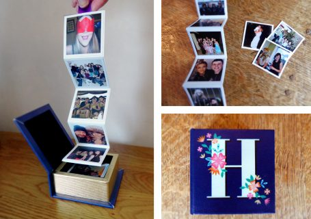 Make your own fold out photo box