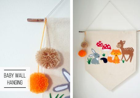 DIY baby wall hanging
