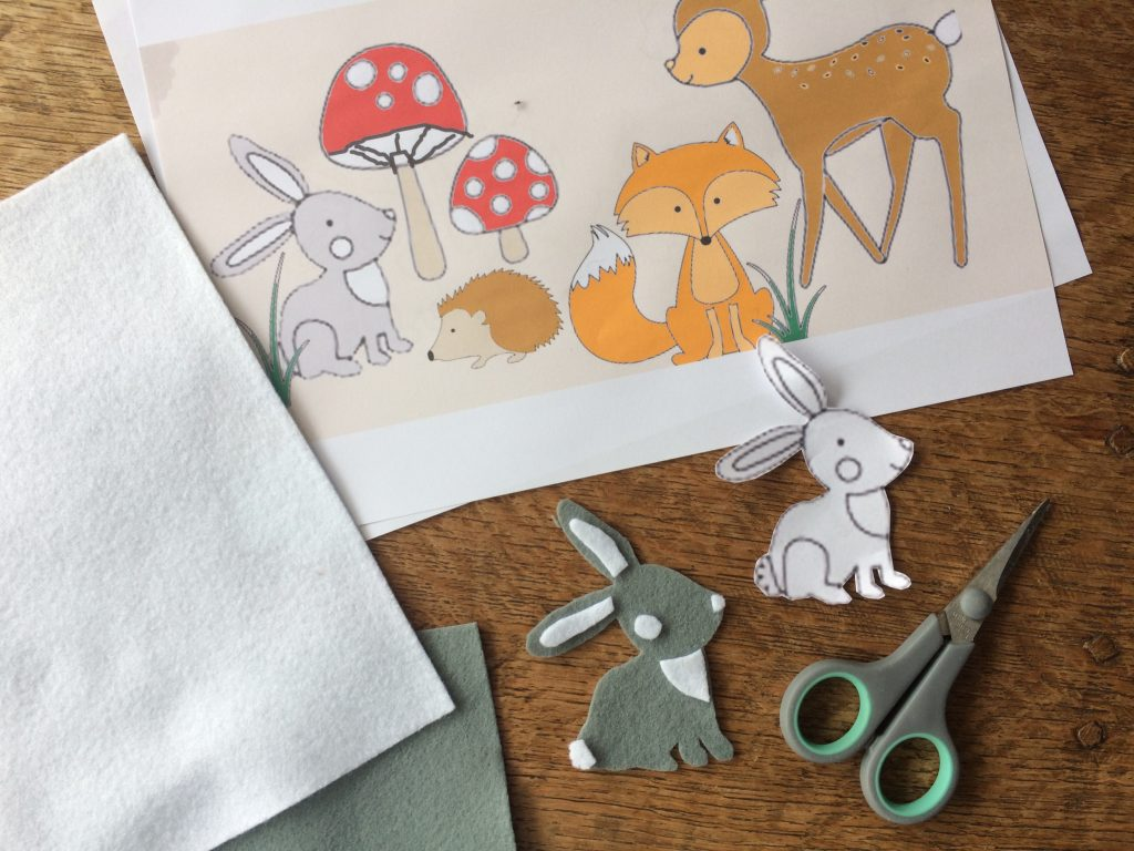 Baby wall hanging - materials list