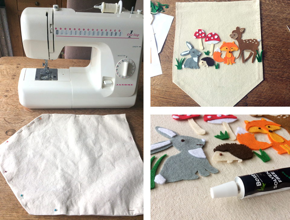 Creating the baby wall hanging